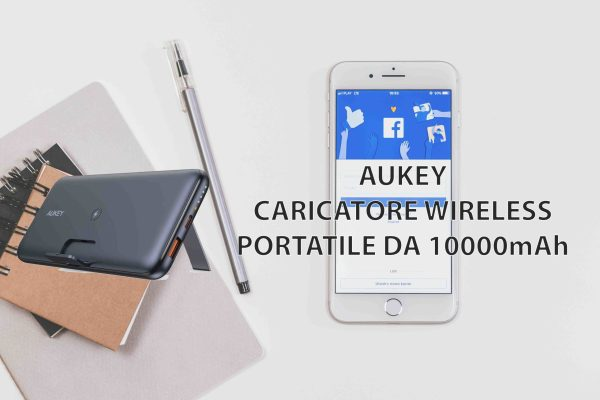 Aukey Caricatore Wireless Portatile da 10000mAh
