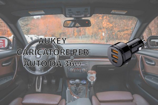 AUKEY Caricatore da 36W per Auto con Power Delivery