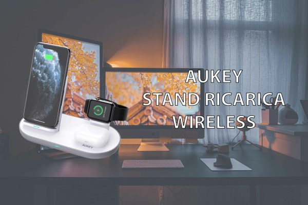 AUKEY Caricatore Wireless per iPhone, Apple Watch ed AirPods Pro