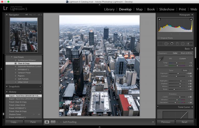 Lightroom Presets Develop Screenshot