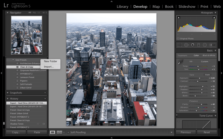 Lightroom Presets Import