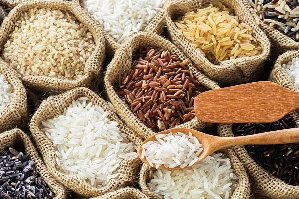 Banco del riso per una dieta casalinga