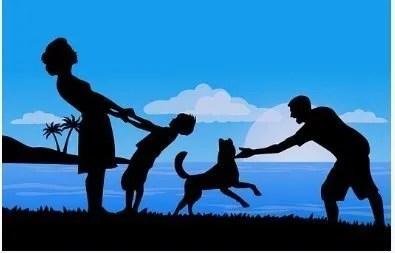 cane per bambini e per la famiglia