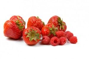 fresas y frambuesas