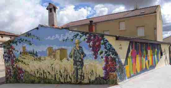 Murales en Tubilla del Lago en Burgos