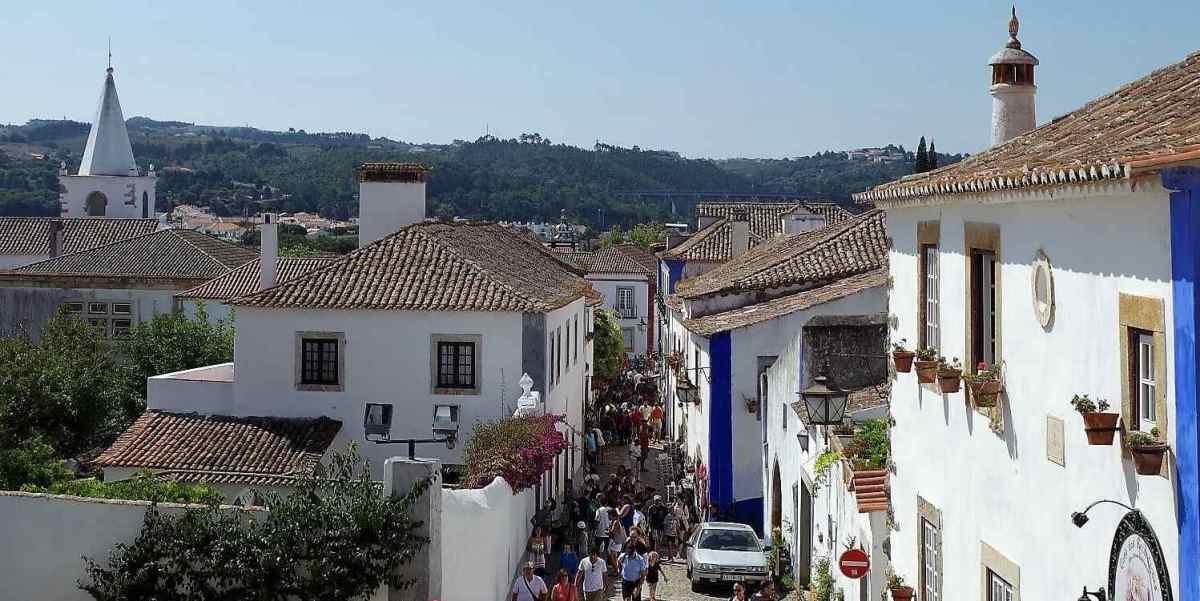 Calle en Óbidos, Portugal