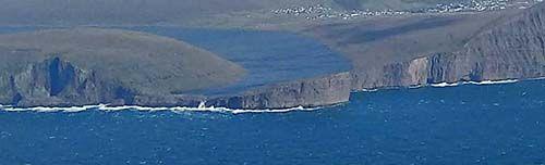 Bøsdalafossur desde el avión