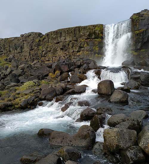 Öxarárfoss, Parque Nacional de Thingvellir