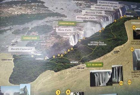 Mapa miradores Cataratas Victoria