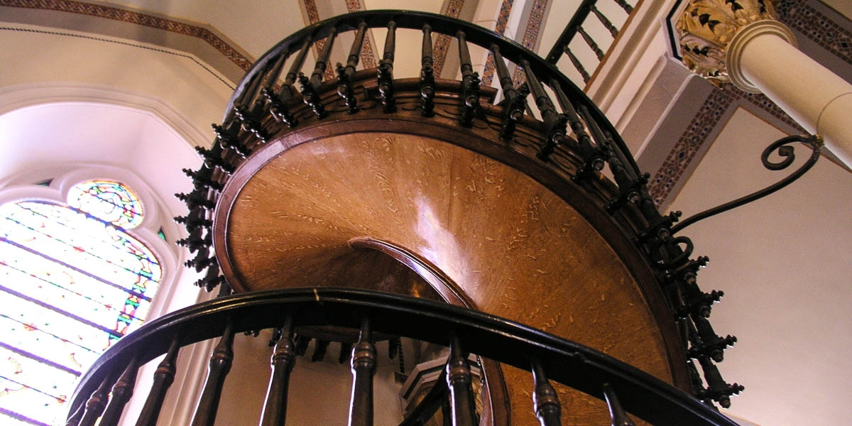 The Staircase St Joseph Built In New Mexico | Spiral Staircase Loretto Chapel | St Joseph | Immaculate | Gothic | Dangerous | Medieval