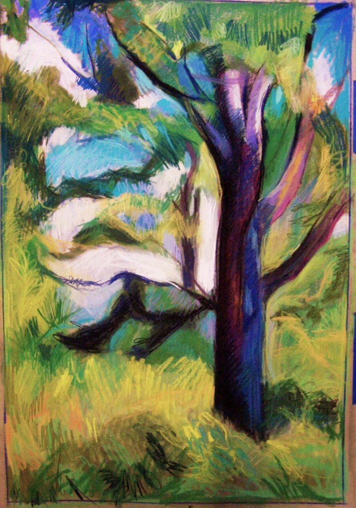 pine tree pastel