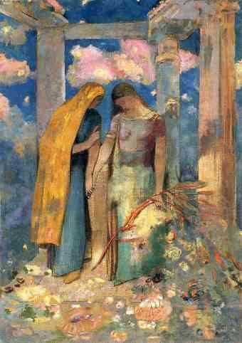 Redon mystical-conversation