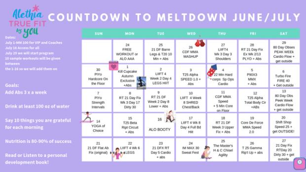 Countdown to Meltdown Calendar