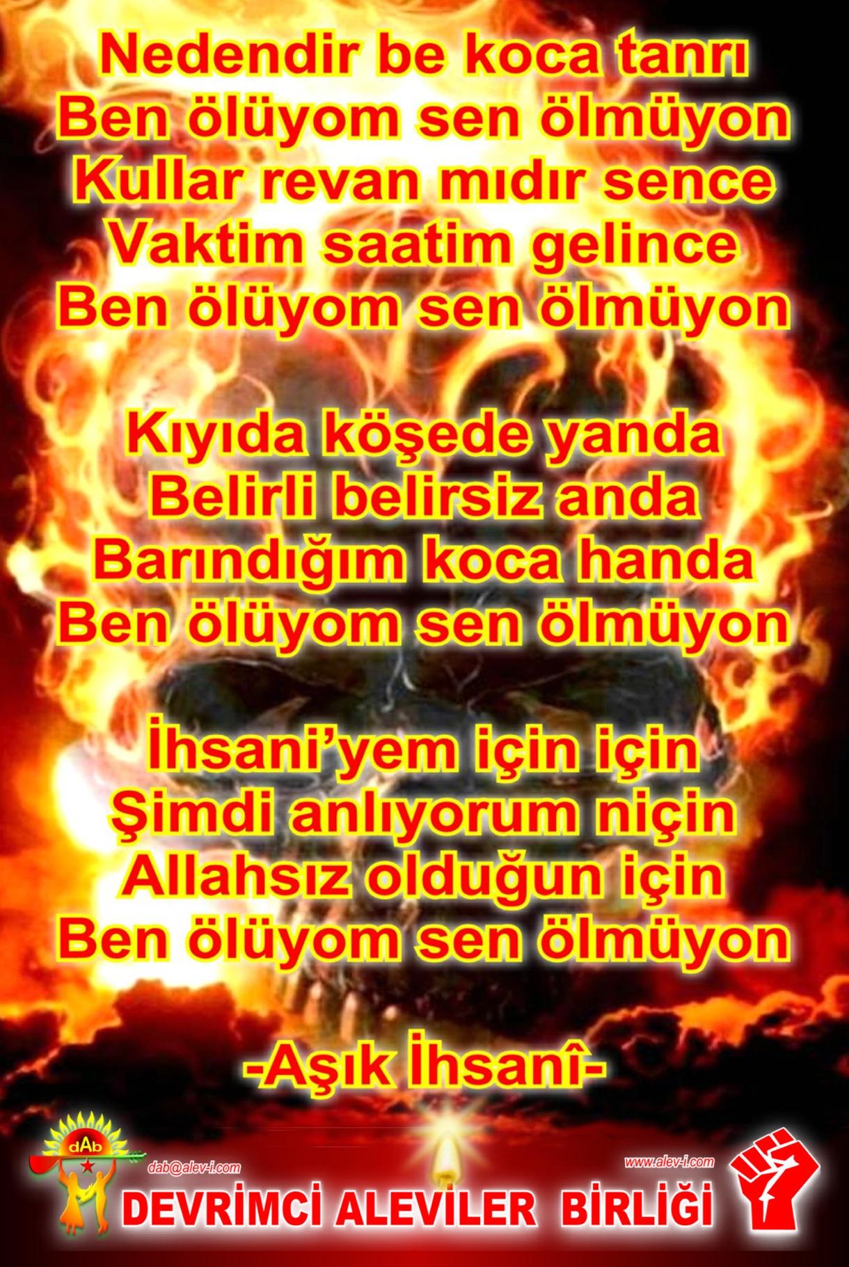 Alevi Bektaşi Kızılbaş Pir Sultan Devrimci Aleviler Birliği DAB sen olmuyon