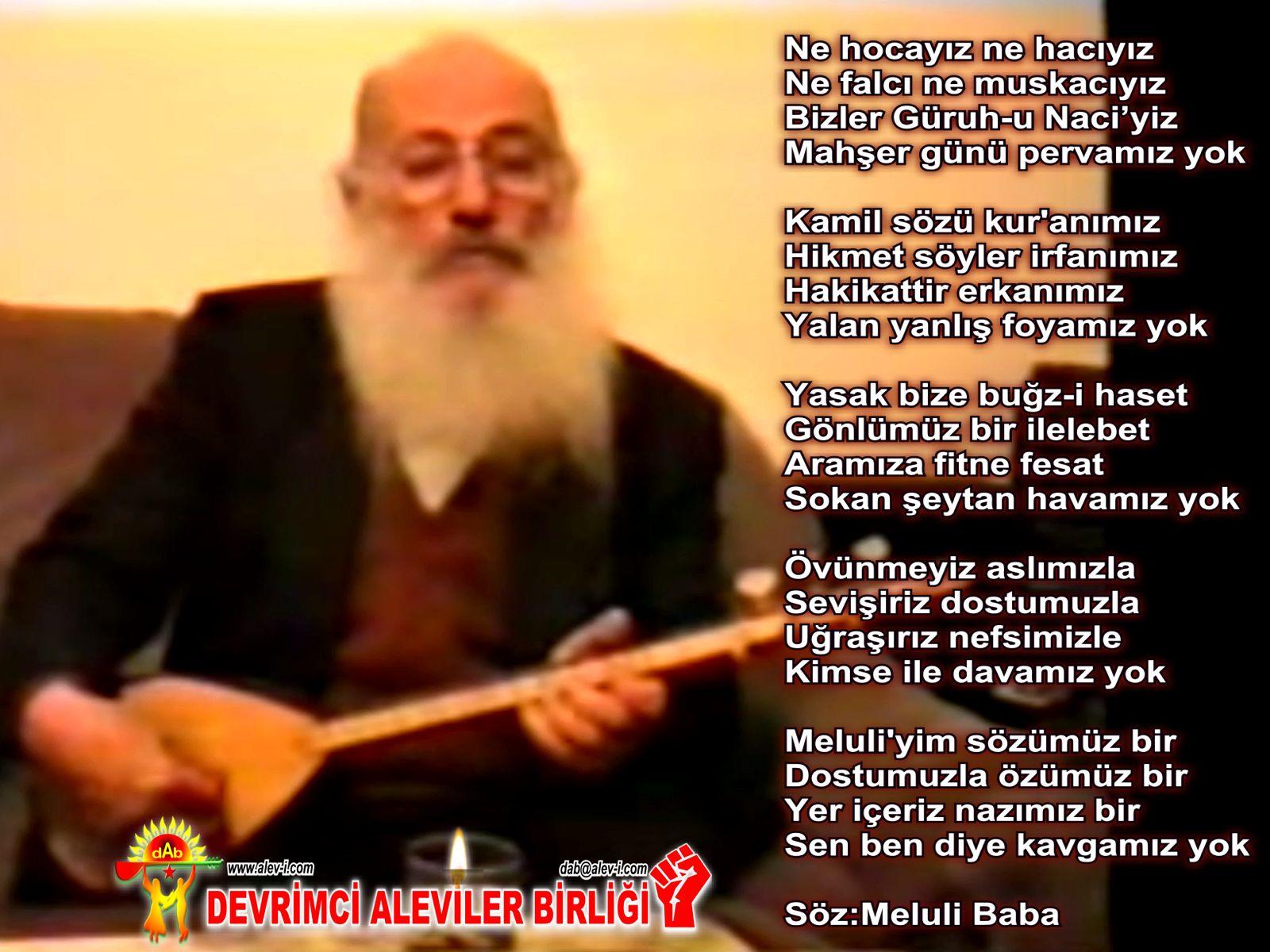 Alevi Bektaşi Kızılbaş Pir Sultan Devrimci Aleviler Birliği DAB yok meluli baba