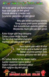Devrimci Aleviler Birliği DAB Alevi Kızılbaş Bektaşi pir sultan cem hz Ali 12 imam semah Feramuz Şah Acar alevi doga