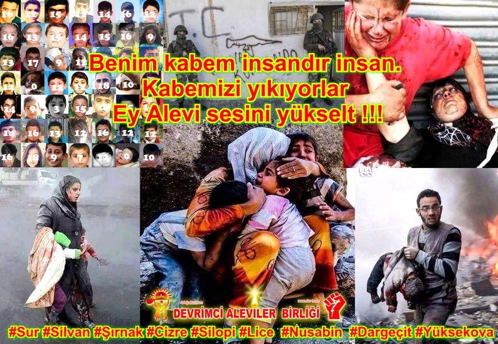 Devrimci Aleviler Birliği DAB Alevi Kızılbaş Bektaşi pir sultan cem hz Ali 12 imam semah Feramuz Şah Acar kabemizi yikiyorlar