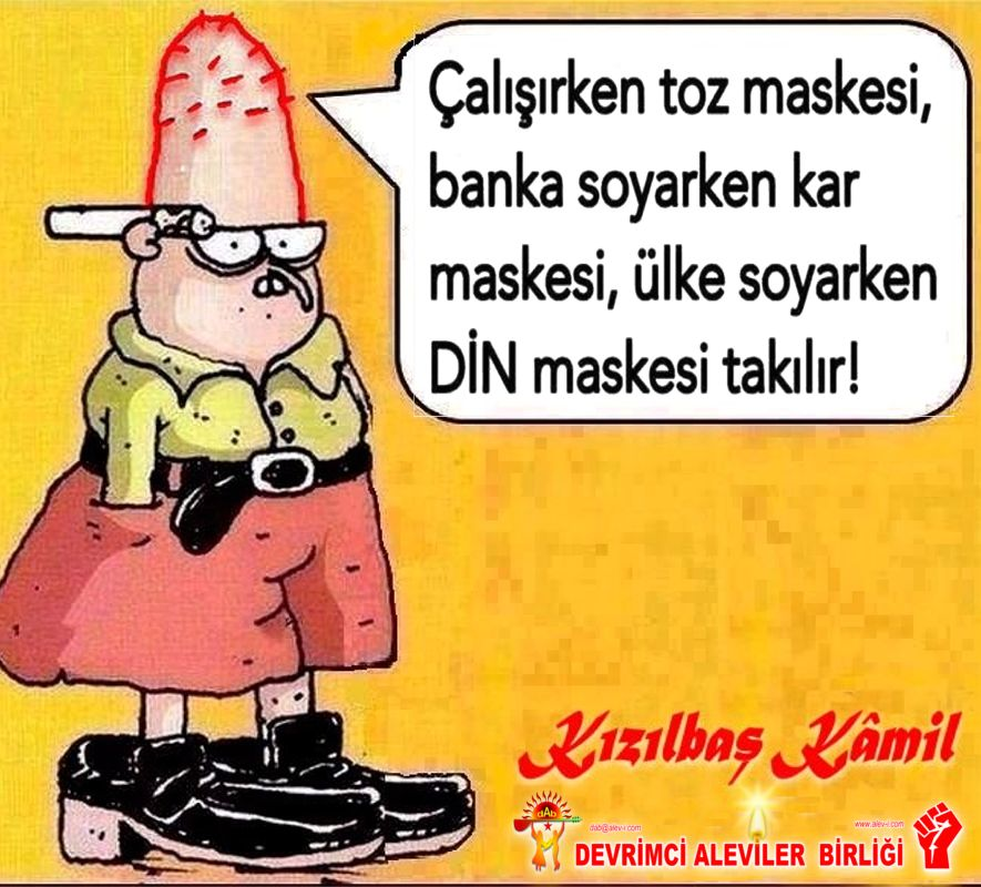 Devrimci Aleviler Birliği DAB Alevi Kızılbaş Bektaşi pir sultan cem hz Ali 12 imam semah Feramuz Şah Acar kizilbas kamil maske