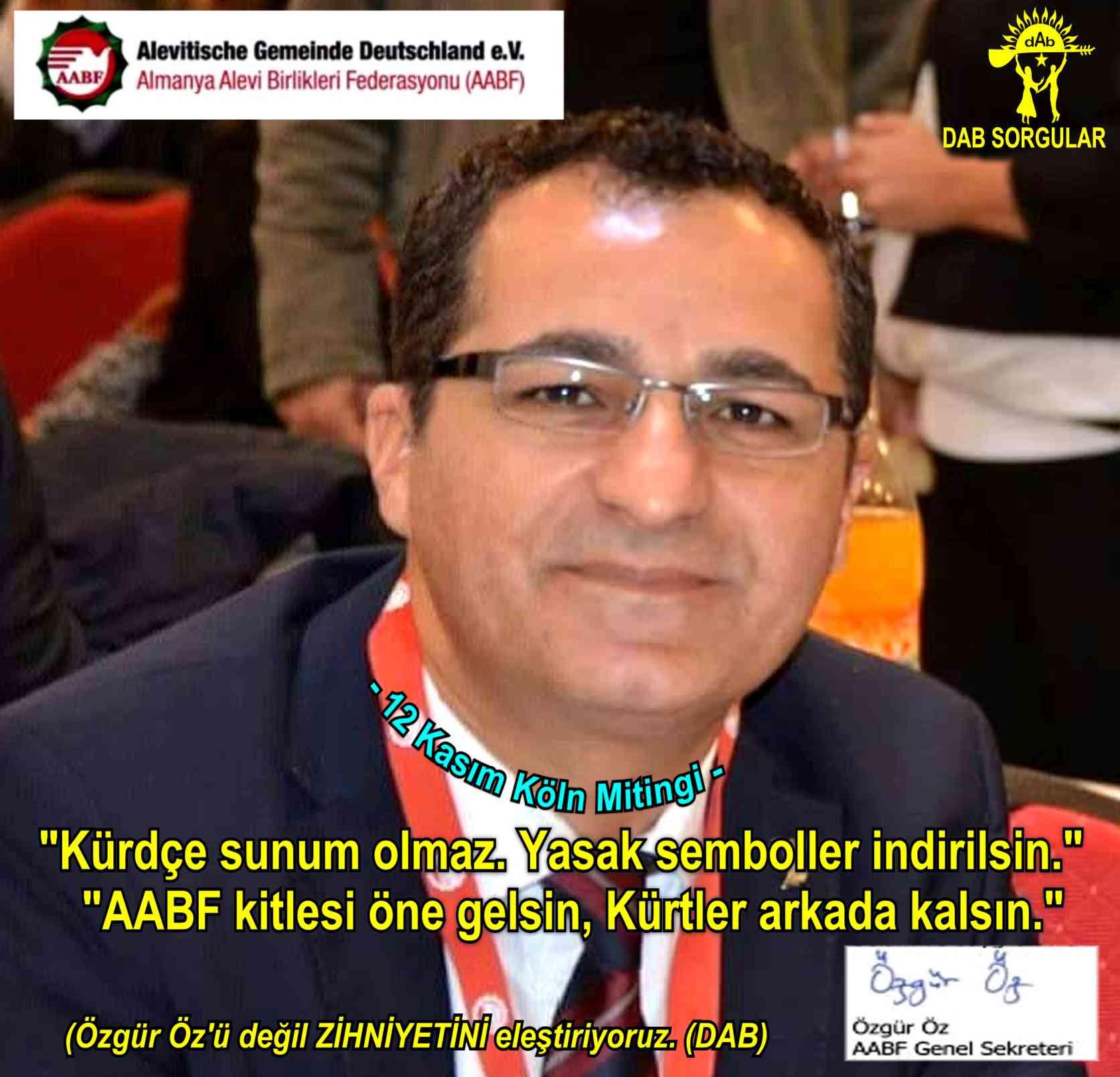 Devrimci Aleviler Birliği DAB Alevi Kızılbaş Bektaşi pir sultan cem hz Ali 12 imam semah Feramuz Şah Acar ozgur oz aabf koln miting