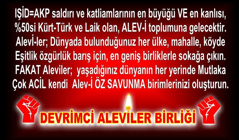 Devrimci Aleviler Birliği DAB Alevi Kızılbaş Bektaşi pir sultan cem hz Ali 12 imam semah Feramuz Şah Acar photo_401409793340749