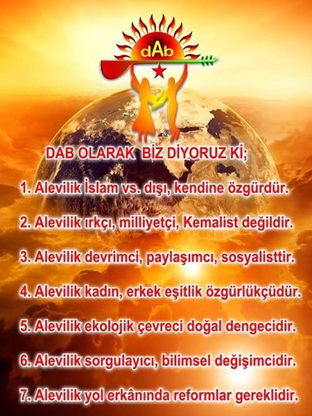 Devrimci Aleviler Birliği DAB Alevi Kızılbaş Bektaşi pir sultan cem hz Ali 12 imam semah Feramuz Şah Acar photo_510086432473084