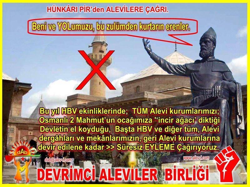 Devrimci Aleviler Birliği DAB Alevi Kızılbaş Bektaşi pir sultan cem hz Ali 12 imam semah Feramuz Şah Acar photo_681436362004756