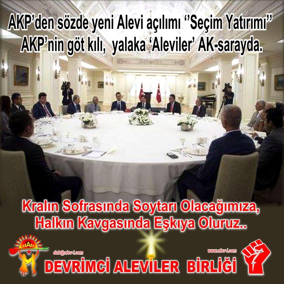 Devrimci Aleviler Birliği DAB Alevi Kızılbaş Bektaşi pir sultan cem hz Ali 12 imam semah Feramuz Şah Acar saray soytari