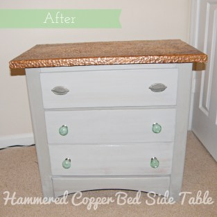 Hammered Copper Bedside Table