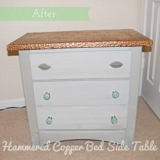 Hammered Copper Bedside Table
