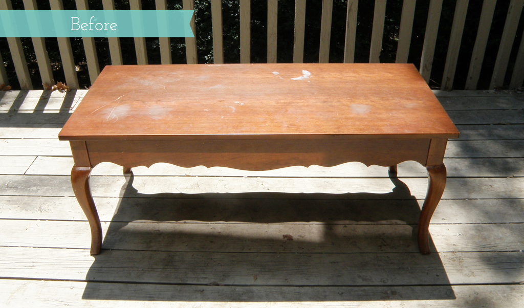oversized rustic coffee table redo