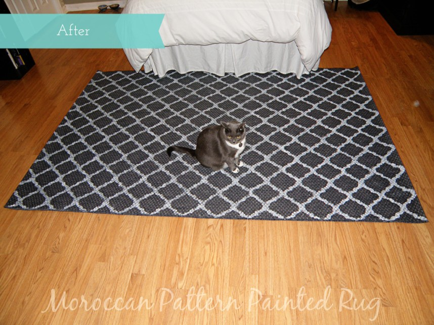 Moroccan Pattern Painted Rug