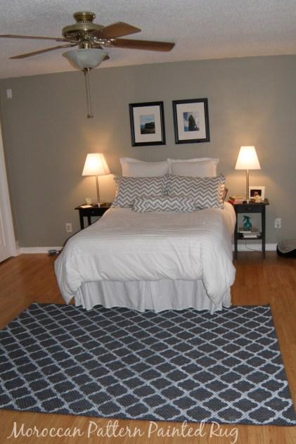 Moroccoan Rug in Bedroom
