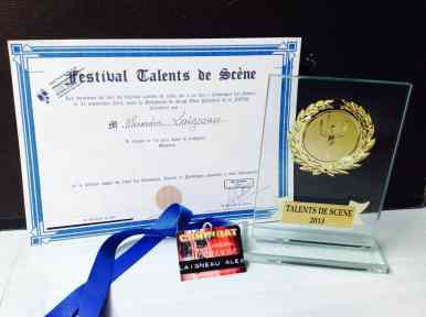 1er prix magicien festival talents de scène Nevers 2013
