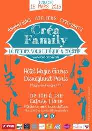 affiche creafamily salon des artistes profesionnels