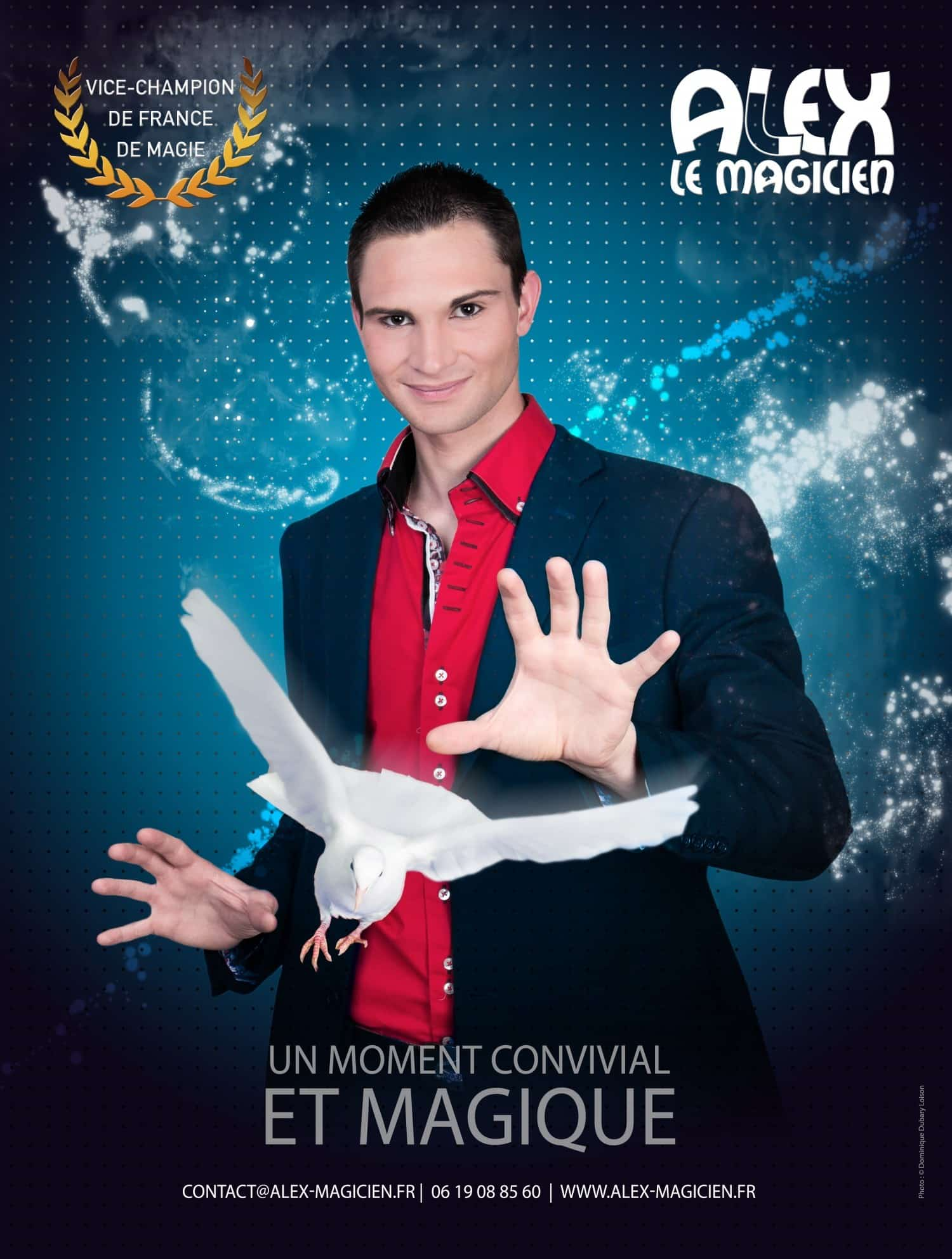 contact - Affiche spectacle de magie Alex le magicien