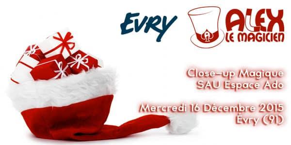 Magicien Evry 91 SAU Espace Ado Noel
