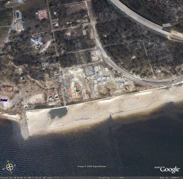 Google Earth - Katrina Damage Satellite View [Thumbnail]