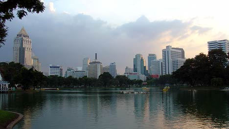 lake view, lumpini park - bangkok