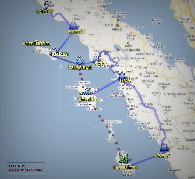 west sumatra islands map