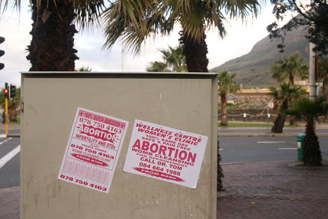 Abortion street signs