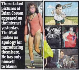 Irish Mail showing off the fruits of Irish humourists