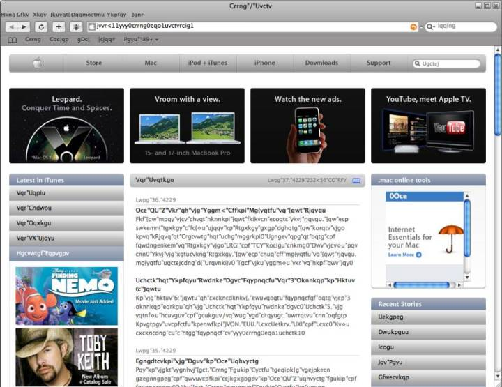 Safari for Windows Screenshot