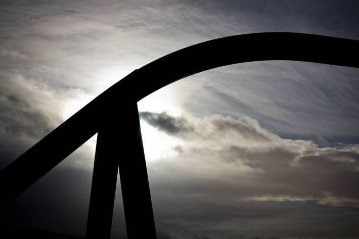 Steel silhouette - Ballycastle - photo by Alex Leonard