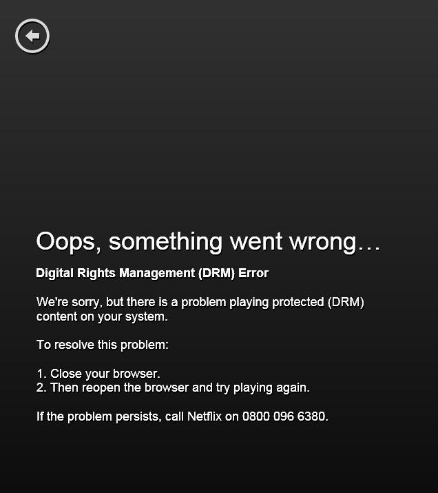 drm error netflix mac n8156