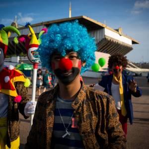Khmer clowns - A photo by Alex Leonard
