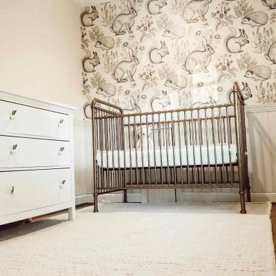 Baby Girl Nursery Progress