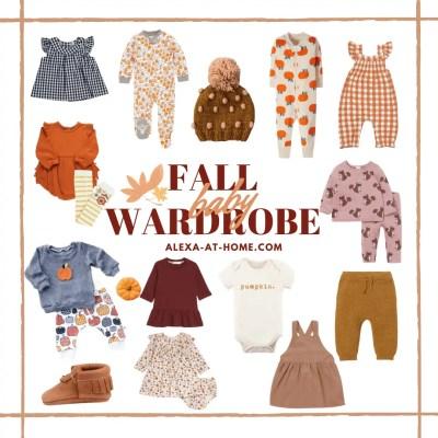 Fall wardrobe for baby girl