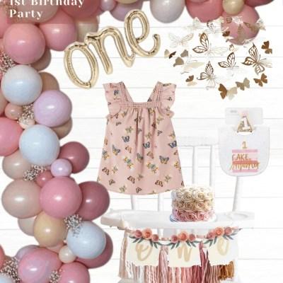 Butterfly Garden First Birthday Party