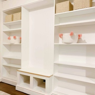 DIY Built-In with Reading Nook using IKEA Billy Bookcase
