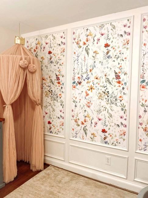 DIY Framed Wallpaper Panels by @alexa.at.home